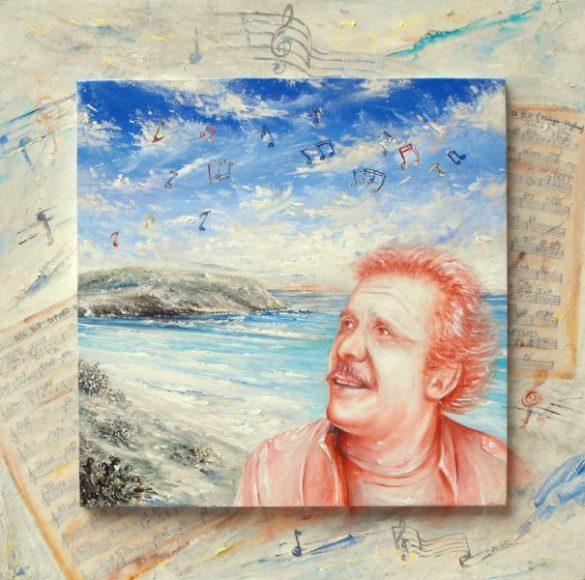 Il blu dipinto di blu nel cielo di Lampedusa, opera dell'artista Pietro De Seta