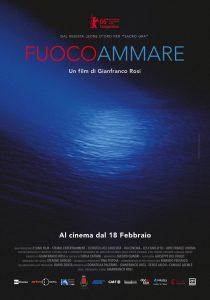 La locandina del nuovo film di Gianfranco Rosi, Fuocoammare, girato a Lampedusa