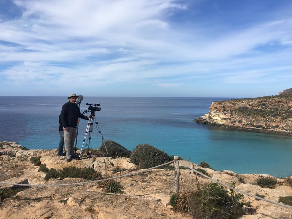 Ciak Junior, momenti delle riprese a Lampedusa