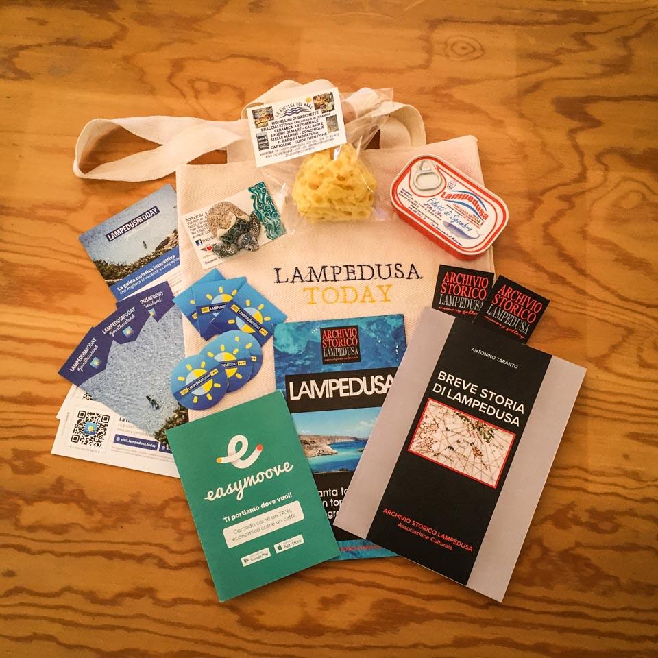 Vinci la borsa mare Lampedusa Today con il meglio dell'isola