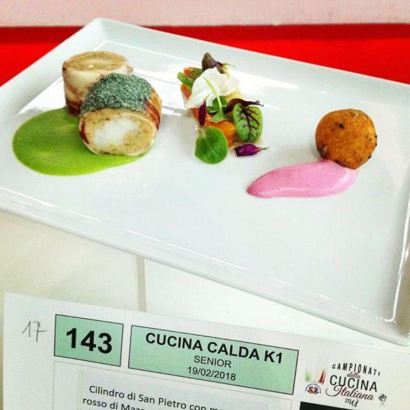 Main course realizzata dallo chef Giovanni Liberatore medaglia d'Argento
