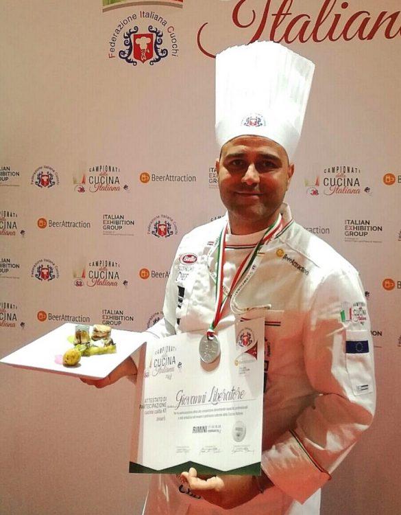 chef Giovanni Liberatore medaglia d'Argento