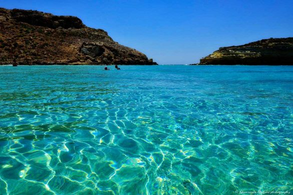 Spiaggia dei Conigli: il mare - Foto di Giancarlo Bogoni per Lampedusainfoto