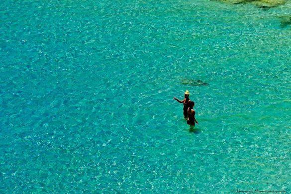 Il colore meraviglioso del mare alla Tabaccara - Foto di Giancarlo Bogoni per Lampedusainfoto