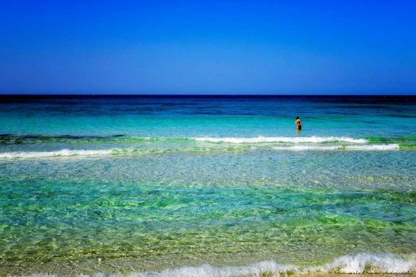 Il mare davanti alla Spiaggia dei Conigli - Foto di Giancarlo Bogoni per Lampedusainfoto
