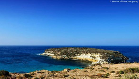 L'arrivo all'Isola dei Conigli - Foto di Giancarlo Bogoni per Lampedusainfoto