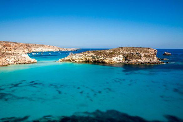 Isolotto dei Conigli, 1 agosto 2014 - Foto di Marco Martire per Lampedusainfoto