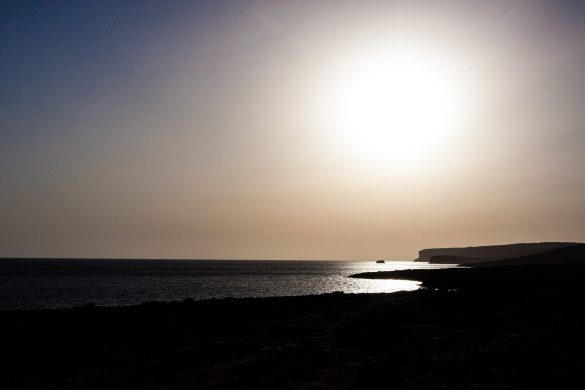 Tramonto dalla costa sud, 30 luglio 2014 - Foto di Marco Martire