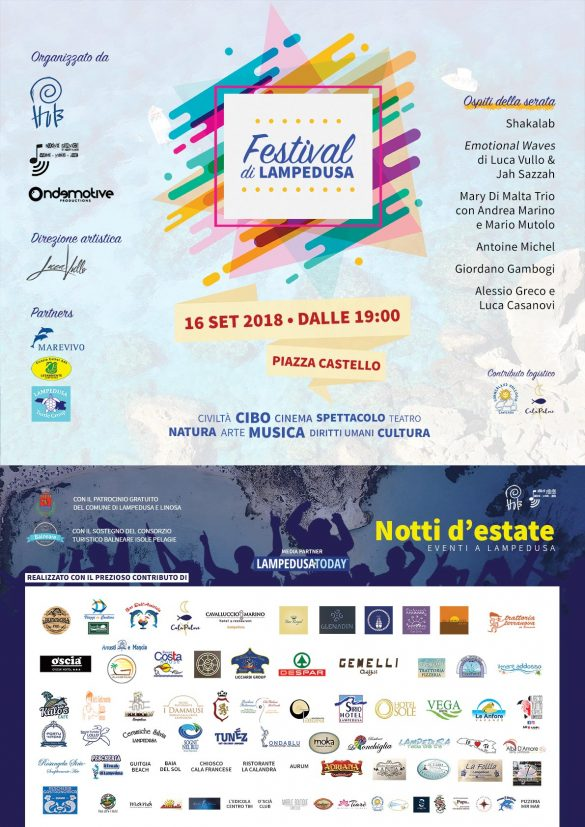 La locandina della prima edizione del Festival di Lampedusa